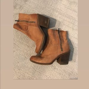 Lucky Brand nude booties